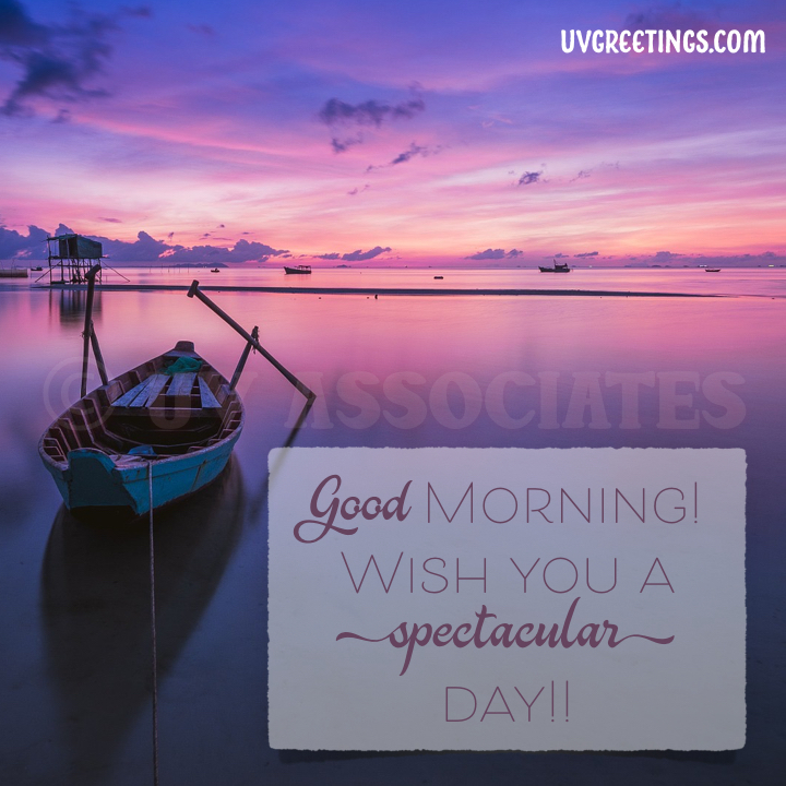 A good morning image featuring a spectacular sky and boats in the ocean
