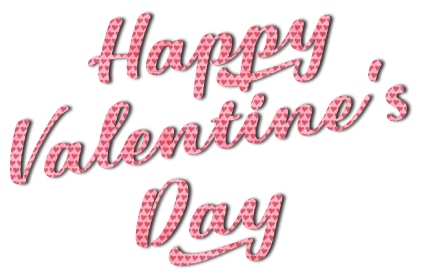 Beautiful script with hearts for Valentine's Day