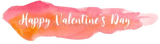 Happy Valentine's Day - Alpha channel cutout from Pink Orange Watercolor Streak