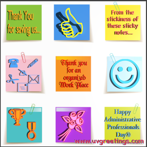 Happy Administrative Professionals' Day® - Sticky Notes with Thank You Messages