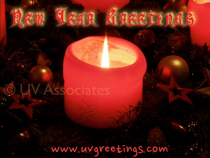 eCard with candle of Hope - New Year Greetings
