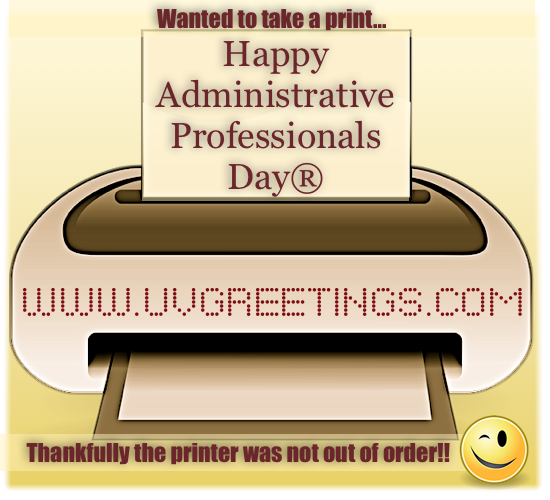 Teasing eCardfor Admin Pro Day - Printer not out of order