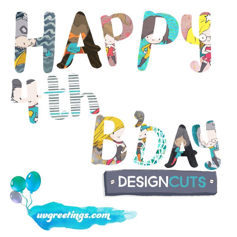 DesignCuts 4th Bday Card
