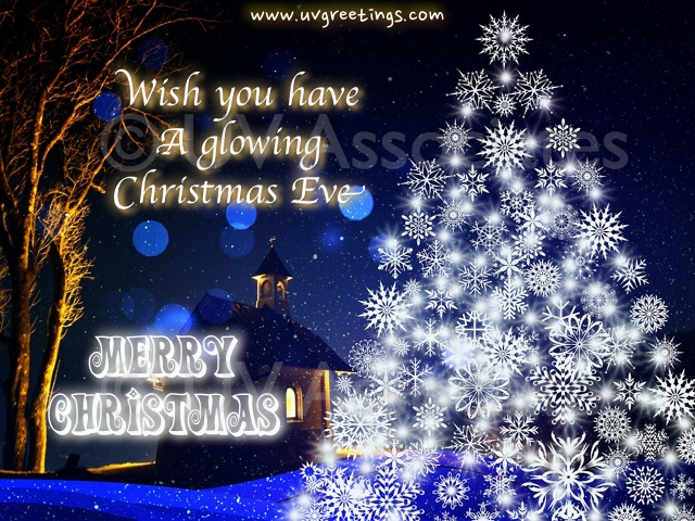 Merry Christmas - Wishes for a Glowing Christmas Eve