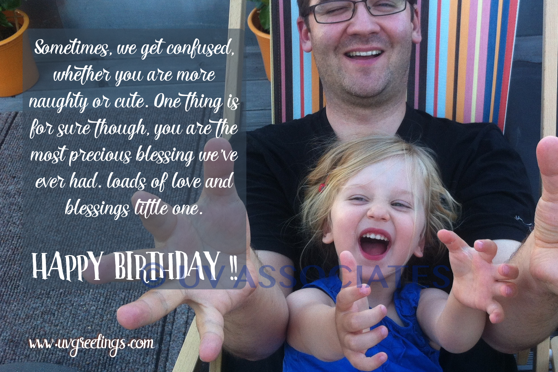Daughter Birthday eCard - Naughty or Cute