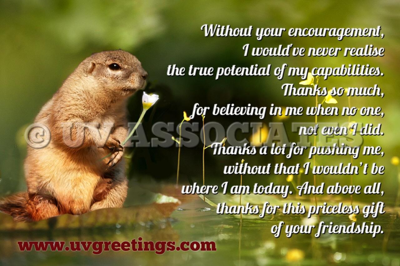 Thank You eCard Priceless Friendship Squirrel